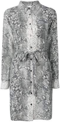 Gold Hawk snake print shirt dress