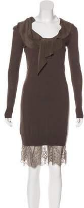 Les Copains Knit Lace-Trimmed Dress w/ Tags