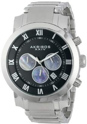Akribos XXIV Men's AK622SSB Grandiose Chronograph Quartz Stainless Steel Bracelet Watch