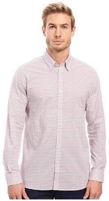 Ted Baker Mocojum Long Sleeve Geo Tile Print Shirt Men's Clothing