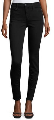Joe's Jeans Charlie High-Rise Skinny Jeans, Black $169 thestylecure.com