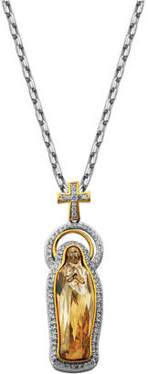 Swarovski Prime Art & Jewel Blessed and Cubic Zirconia Virgin Mary with Cross Necklace