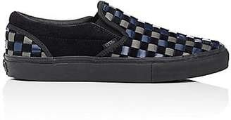Vans Men's Woven Leather & Suede Slip-On Sneakers - Black