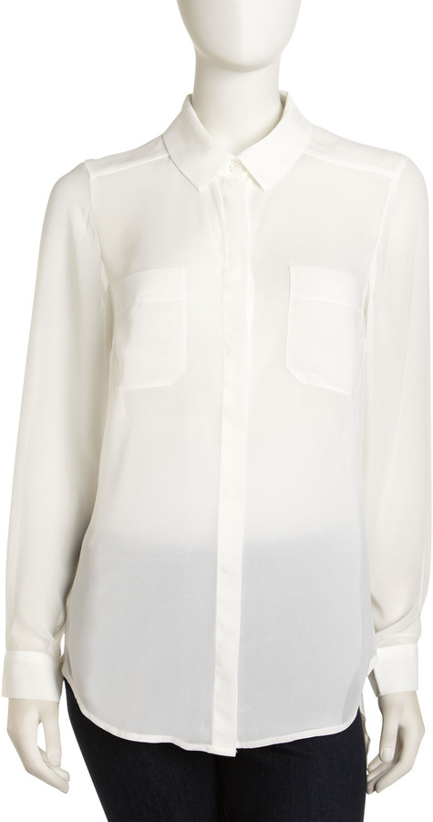 Isda & Co Georgette Blouse, White