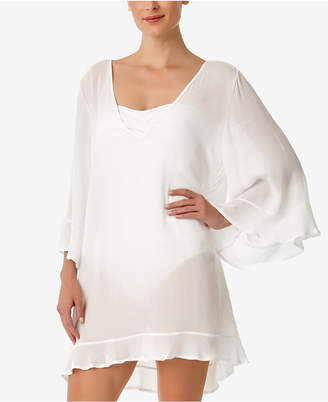 Anne Cole Sheer Ruffled Tunic Cover-Up Women's Swimsuit
