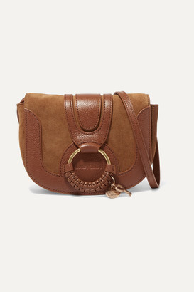 See by Chloe Hana Mini Textured-leather And Suede Shoulder Bag - Tan