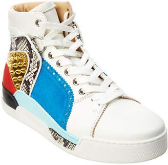 Christian Louboutin Loubikick Leather & Suede Sneaker