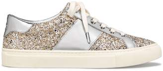Tory Burch CARTER METALLIC GLITTER LACE-UP SNEAKER