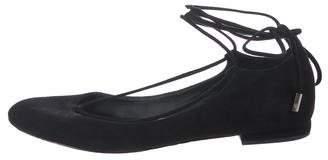 Diane von Furstenberg Suede Tie Sandals