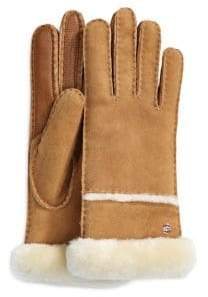 UGG Stormy Leather and Shearling Sheepskin Gloves
