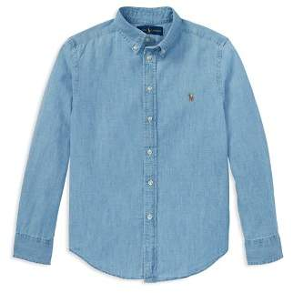 Ralph Lauren Boys' Chambray Button Down Dress Shirt - Big Kid
