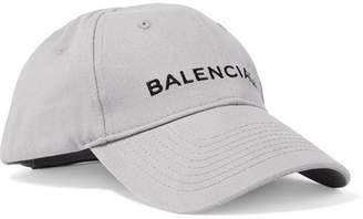 1113e4469f1a6 Balenciaga Embroidered Cotton-twill Baseball Cap - Gray