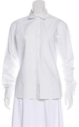 Loro Piana Button-Up Long Sleeve Top