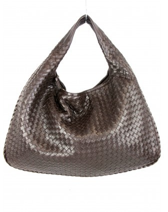 Bottega Veneta excellent (EX Intrecciato Ebano Napa Large Hobo Bag