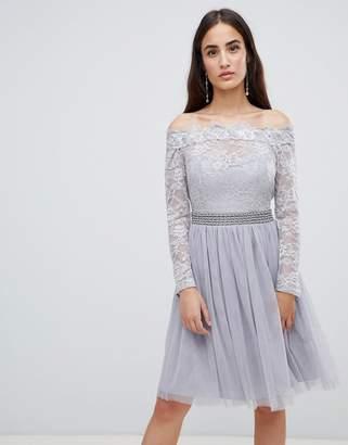 Little Mistress lace embellished waist dress