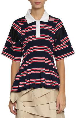 Koché Pleated Polo Shirt