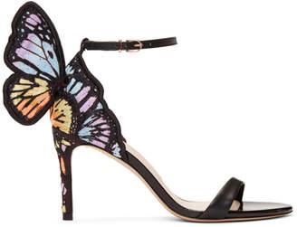 Sophia Webster Black Chiara Embroidery Mid Sandals