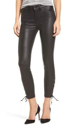 Hudson Nix High Waist Leather Skinny Pants