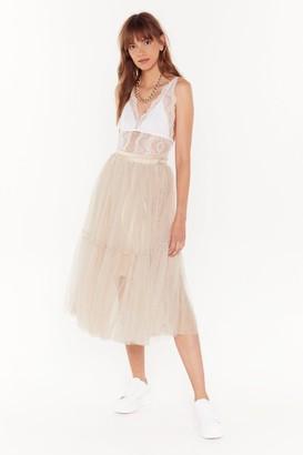 Nasty Gal Tulle Bad Midi Skirt