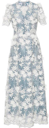 Luisa Beccaria Floral Embroidered Dress