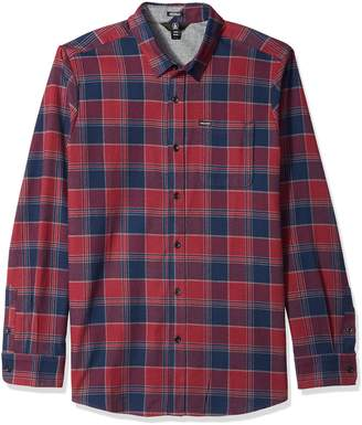 Volcom Men's Caden Long Sleeve Button up Flannel Shirt