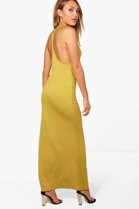 boohoo Frances Split Strappy Back Maxi Dress