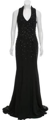 Mac Duggal Sleeveless Embellished Evening Dress