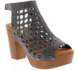 Sbicca Leather Woven Platform Sandals - Kingsley