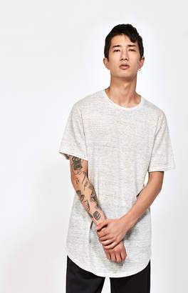 adidas Pacsun Lionel Linen Striped Scallop T-Shirt