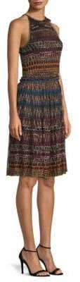 Missoni Lame Halter Zig-Zag Dress