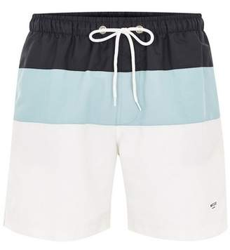 Topman Mens NICCE Navy, Blue And White Swim Shorts