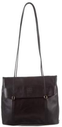 Mark Cross Fold-over Leather Bag