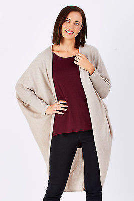 NEW Natural for birds Womens Cardigans Natural Draped Cocoon Knit