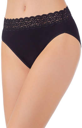Vanity Fair Flattering Lace Cotton High Cut Panty 13395