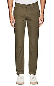 Barneys New York MEN'S COTTON TWILL FIVE-POCKET CHINOS-DK. GREEN SIZE 34