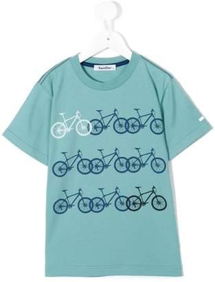Familiar bike print T-shirt