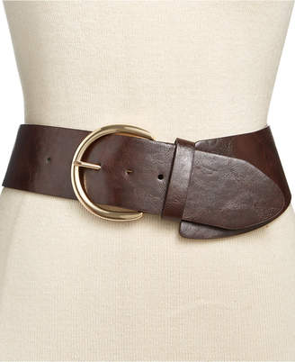 INC International Concepts Asymmetrical Stretch Belt, Only at Macy's $34.50 thestylecure.com
