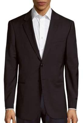 Giorgio Armani Long-Sleeve Wool Blazer
