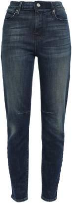 RtA Distressed Faded High-rise Slim-leg Jeans