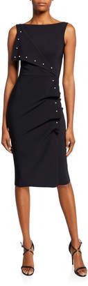 Chiara Boni Miracle Asymmetric Pearly-Trim Dress