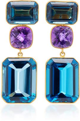 One-Of-A-Kind London Blue Topaz Earrings Bahina SaDaQMp0