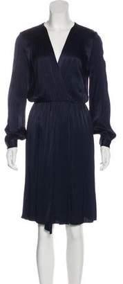L'Agence Long-Sleeve Midi Dress