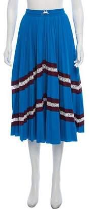 Valentino Pleated Plissé Jersey Skirt w/ Tags