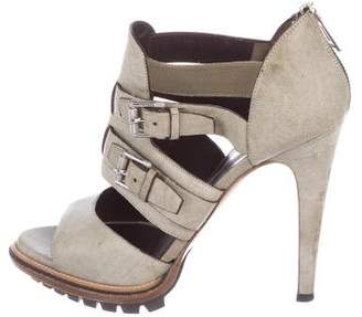 Belstaff Leather Cutout Sandals