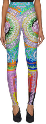Versace Multicolor Floral Mania Leggings
