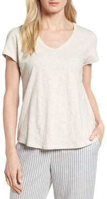 Eileen Fisher Organic Cotton V-Neck Tee