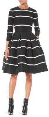 Carolina Herrera Striped Silk Fit-and-Flare Dress