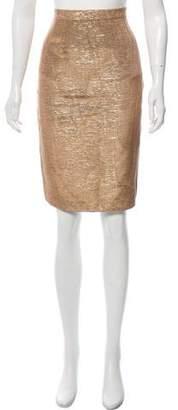 Givenchy Metallic Pencil Skirt