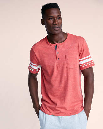Express Recycled Stretch Jersey Henley Tee