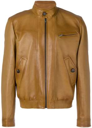 Prada zipped leather jacket